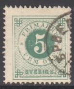 SUEDE 1872-85 1 TP Chiffre N° 18A Y&T Oblitéré - Suède