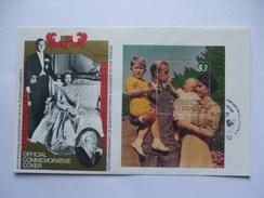TUVALU - Nui - 40th Wedding Anniversary Of Queen Elizabeth II - $3.00 Minisheet On Cover