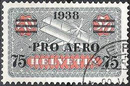 """PRO AERO 1938 """"ERSTE PA"""" Zu 26 Mi 325 Yv PA26 Mit Eck-o BERN 22.V.38 (Zu CHF 7.50)"""