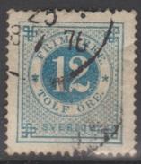 SUEDE 1872-85 1 TP Chiffre N° 20B Y&T Oblitéré - Suède