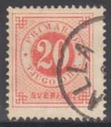 SUEDE 1872-85 1 TP Chiffre N° 21A Y&T Oblitéré - Suède