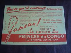Buvard Savon Des PRINCES Du Congo Au Baume Du Pérou - Buvards, Protège-cahiers Illustrés