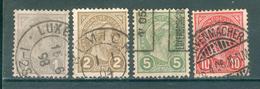 LUXEMBOURG ; 1895 ; Y&T N° 69-70-72-73 ; Oblitéré