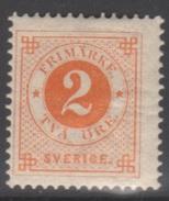 SUEDE 1886-99 1 TP Chiffre N° 29 Y&T Neuf * Charnière - Neufs