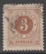 SUEDE 1886-99 1 TP Chiffre N° 30 Y&T Oblitéré - Suède