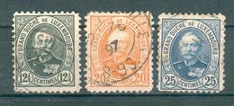 LUXEMBOURG ; 1891-93 ; Y&T N° 60-61-62 ; Oblitéré