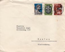 1937 Combinatiefrankering Jamboreezegels Op Brief  Van Amsterdam Naar Keulen
