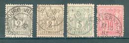 LUXEMBOURG ; 1882-91 ; Y&T N° 48-50-51 ; Oblitéré
