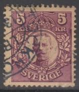 SUEDE 1910-19 1 TP Gustave V N° 61 Y&T Oblitéré - Suède