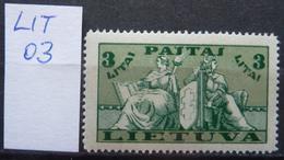 Lot Litauen/Lithuania 03 Definitive (1934) MNH Definitive Mi-Nr. 401 MNH