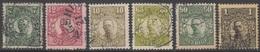 SUEDE 1918-19 6 TP Gustave V N° 97 à 105 Sauf 99 101 103 Y&T Oblitéré