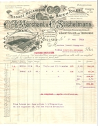 Facture Soc.Tissage Mécanique Saint-Gilles Lez Termonde 17/5/1915 Destinataire Se Trouvant à Court-St.-Etienne PR3989 - Bélgica