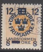 SUEDE 1918 1 TP Chiffre N° 119 Y&T Oblitéré - Suède