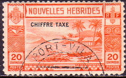 NEW HEBRIDES(French Inscr.) 1938 SG FD67 Postage Due 20c Used  CV £80 - Postage Due