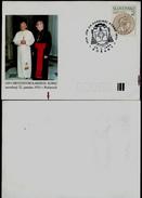 605-SLOVAKIA Postal Card 2nd Visit Of Pope John Paul II.+ Slovak Cardinal KOREC Commemorative Stamp BOŠANY 1994