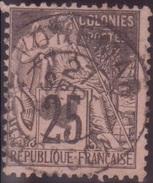 Colonies Générales 25c Alphée Dubois Oblitération Cachet VOHEMAR MADAGASCAR 27 SEPT 1892