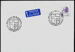606-SLOVAKIA Cover 3rd And Last Visit Of Pope John Paul II. Commemorative Stamp BRATISLAVA 2003
