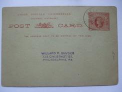 AUSTRALIA - Victoria - Postal Stationary Card - Melbourne To Philadelphia USA - 1850-1912 Victoria