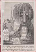 1850 1862 George Van Straelen Anvers Berchem Zeer Oud Doodsprentje Bidprentje Image Mortuaire (beschadigd) - Images Religieuses