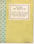 L'art De Mentir - Français