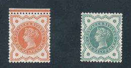 GRANDE-BRETAGNE - 1887/1900 - Yvert N# 91/92 - NEUF ** Luxe MNH - 1/2p. Vermillon Et Vert-bleu Victoria Jubilee Set