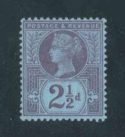GRANDE-BRETAGNE - 1887/1892 - Yvert  N# 95 - NEUF * MLH - 2 1/2p. Victoria Jubilee Set