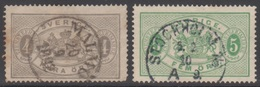 SUEDE 1874-96 2 TP De Service N° 2A Et 3A Y&T Oblitéré