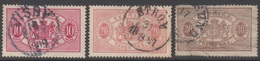 SUEDE 1874-96 3 TP De Service N° 5A 7A 9A Y&T Oblitéré (n° 9A Papier Aminci)