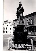 "ISHPEMING, Michigan, USA, Statue Of Indian :BIG ISH"", Wylie & Co Finance, Old Cook RPPC - Etats-Unis"