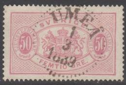 SUEDE 1874-96 1 TP De Service N° 10A Y&T Oblitéré