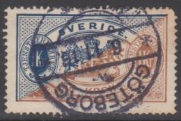 SUEDE 1874-96 3 TP De Service N° 11A Y&T Oblitéré