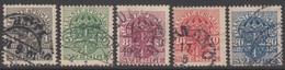 SUEDE 1910-19 5 TP De Service N° 19 22 23 24 26 Y&T Oblitéré