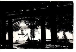 CRYSTAL FALLS, Michigan, USA, Fortune Lake & Diving Raft, 1956 Cook RPPC - Etats-Unis