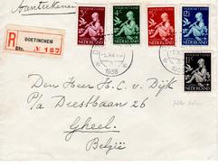 1938 Aangetekende Brief Van DOETINCHEM Naar Geel In België Met Kinderserie 1938 En Sluitzegel