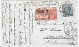STORIA POSTALE REGNO - CARTOLINA ILLUSTRATA SPEDITA ESPRESSO 1922 DA SETTIMO VITTONE - 1900-44 Vittorio Emanuele III