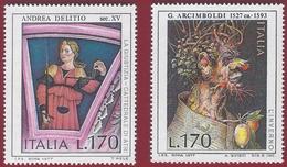 1977 - Set - Italian Artists- Andrea Delitio - Giuseppe Arcimboldi -  Yt:IT 1309-1310 - MNH