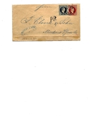 Enveloppe 5 Kr + TP 10 Kr WIEN 1868 V. MADERNO S/Lac De GARDE