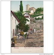 GNDTP6519CPA-LFTMD3578TACA.Tarjeta Postal DE GRANADA.Edificios,animales Y Personas En La CUESTA DE LA ALHACABA.Granada - Caballos