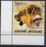 Guiné-Bissau Guinea Guinée Bissau 2005 Mi. 2818 Albert Schweitzer Lion Löwe Fauna Faune