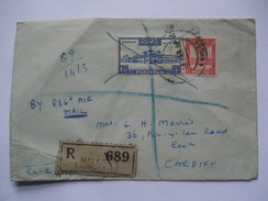 PAKISTAN 1952 REGISTERED COVER - Lahore To Cardiff Wales