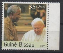 Guiné-Bissau Guinea Guinée Bissau 2003 Mi. 2614 Pape Pope Papst John Paul II Nelson Mandela Madiba SCARCE ! - Famous People