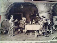 TITO CONTI BRINDISI ALL LOCANDERA VINO BOTTE 1941 TARGETTA NAPOLI LA LOTTERIA ESPOSIZIONE ROMA VI FARA MILIONARI GA12527 - Paintings