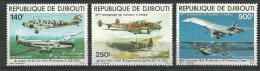 "Djibouti Aerien YT 130 & 132 (PA) "" Aviation "" 1979 Neuf** - Djibouti (1977-...)"