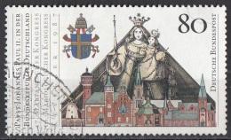 1503 Germania 1987 Visita Di Giovanni Paolo II - Pope John Paul Stemma Papa Madonna Bambino Kevelaer