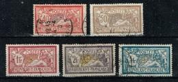 France - 1900 - Y&T N° 119 à 123, Oblitérés. Bons Centrages.