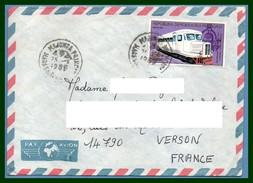 Madagascar Lettre Voy 1989 Majunga > France Verson Train Chemin De Fer