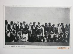 Postcard Arabs In The Desert [ Large Group ] Photo Venus Card Sanbridge Iraq Qatar Bahrain Saudi Arabia ? My Ref B1825 - Postcards