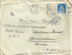 Ausland Brief  Bern - Amersham - London             1923