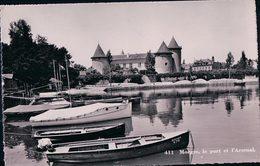 Morges Le Port Et Bateaux Du Léman Devant Le Château (411) - VD Vaud