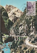 Algérie FDC Carte Maximum - Yvert 361 Surchargé EA - Gorges De Kerrata - Alger 6/8/1962